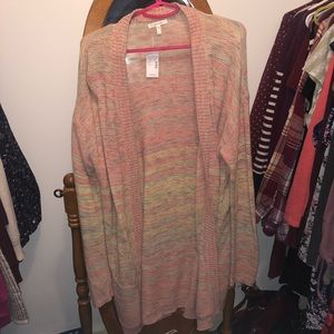 NWT Maurices Cardigan Colorful
